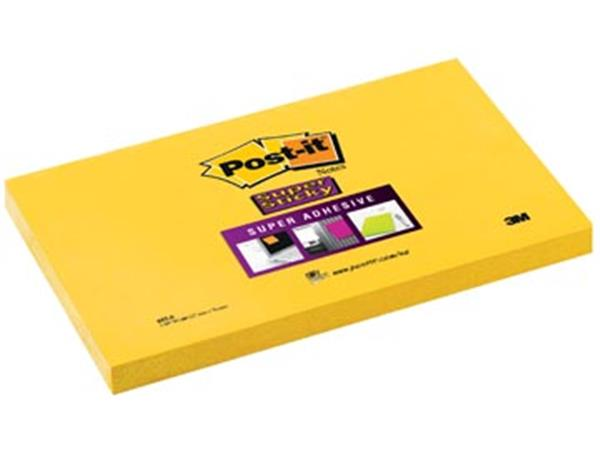 Post-it Super Sticky notes. ft 76 x 127 mm. neonge