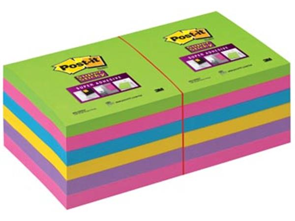 Post-it Super Sticky notes. ft 76 x 76 mm. geassor