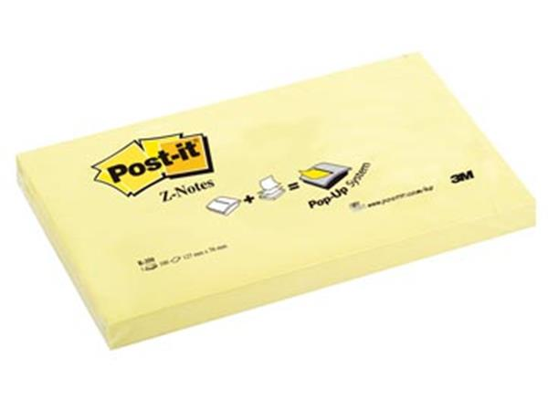 Post-it Z-Notes. ft 76 x 127 mm. geel. blok van 10