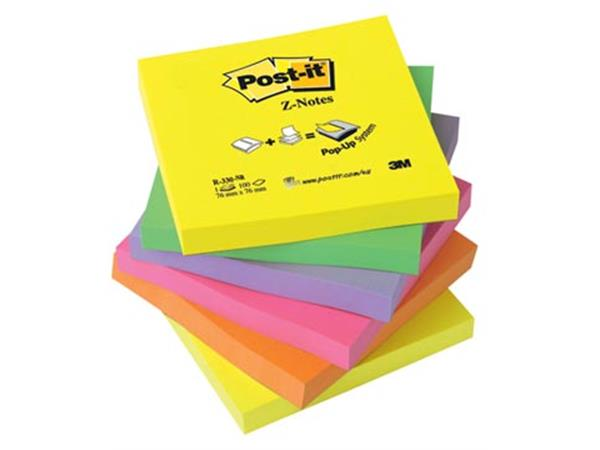 Post-it Z-Notes navullingen. ft 76 x 76 mm. geasso