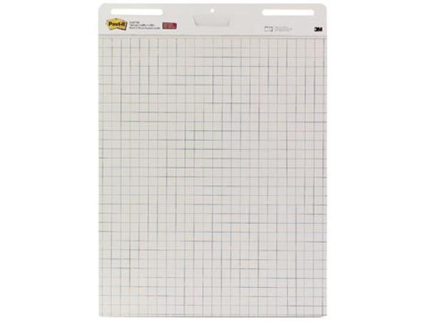 Post-it meeting chart, ft 63,5 x 77,5 cm, geruit, 30 vel, pak van 2 blokken