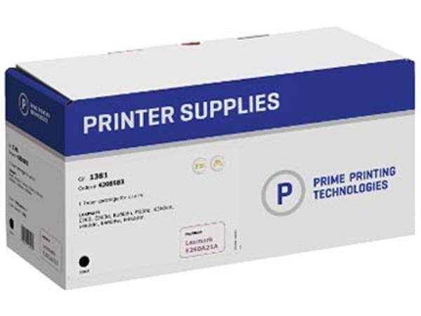 Prime printing toner zwart, 3500 pagina's voor Lexmark - OEM: E260A21A