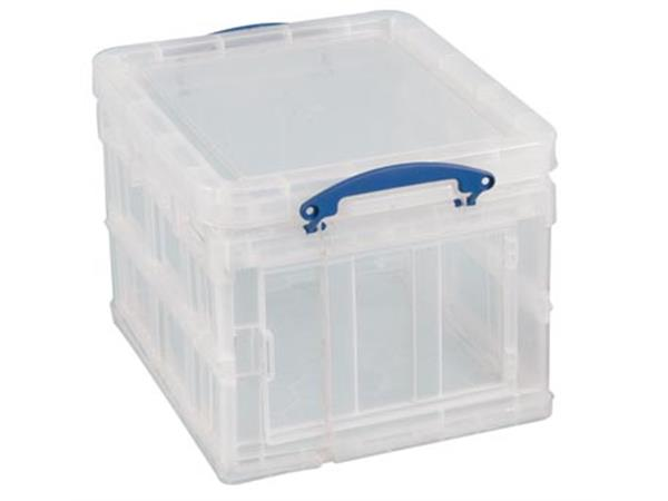 Really Useful Box opbergdoos 35 liter opvouwbaar, transparant