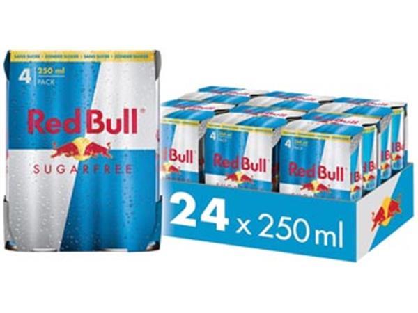 Red Bull energiedrank. sugarfree. blik van 25 cl.