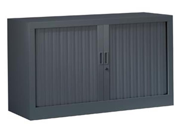 Roldeurkast, hoogte 69,5 cm, antraciet