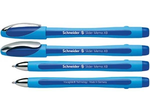 Schneider Balpen Slider Memo XB blauw