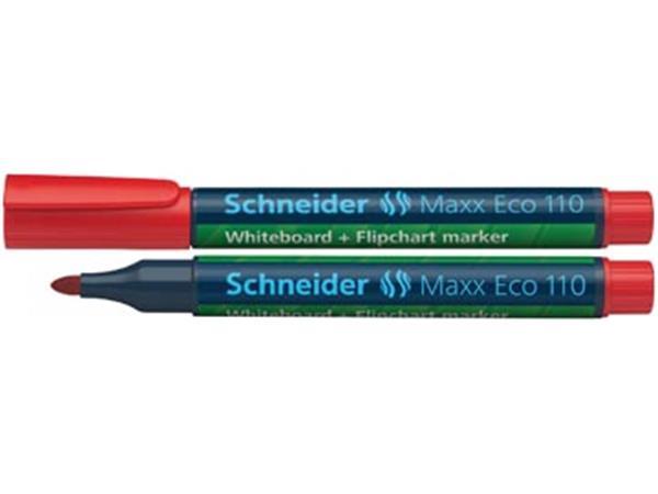 Schneider whiteboard + flipchart marker Maxx Eco110 rood