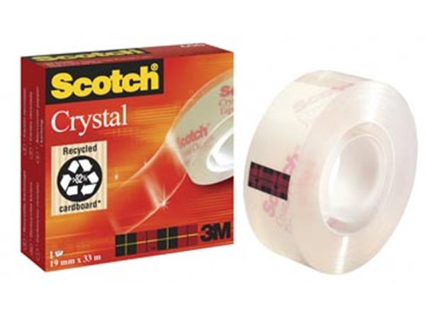 Scotch Plakband Crystal ft 19 mm x 33 m. doos met