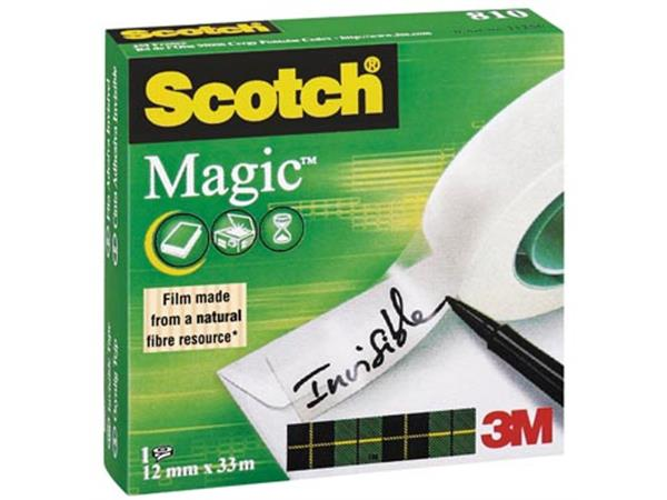 Scotch plakband Magic  Tape ft 12 mm x 33 m