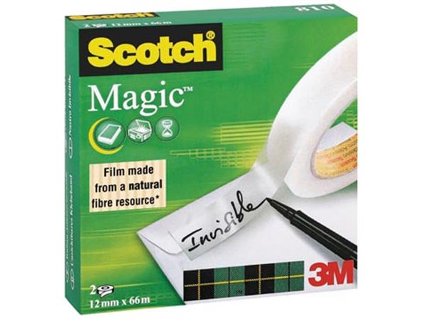 Scotch plakband Magic  Tape ft 12 mm x 66 m. doos