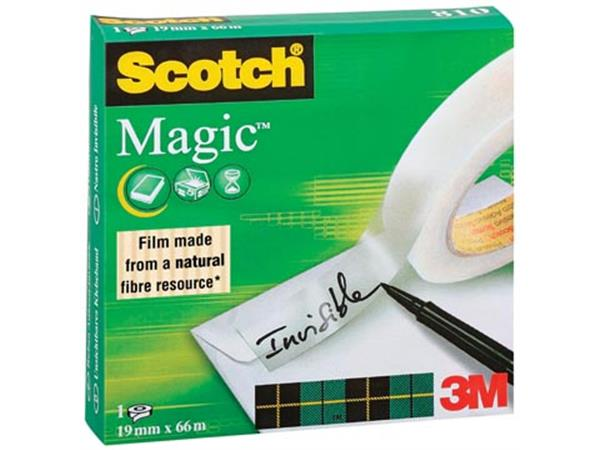 Scotch plakband Magic  Tape ft 19 mm x 66 m