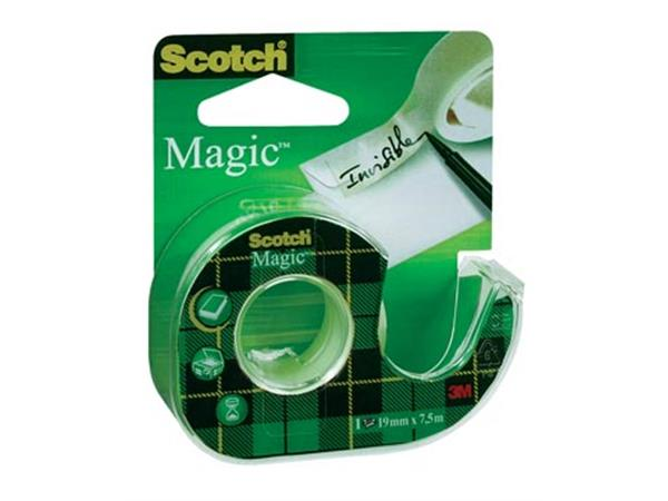 Scotch plakband Magic Tape. ft 19 mm x 7.5 m. blis