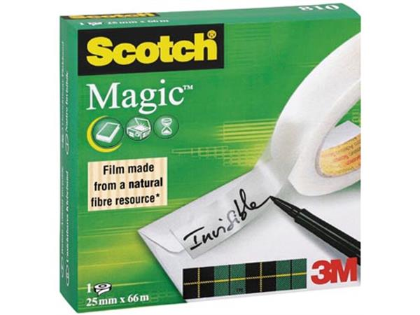 Scotch plakband Magic  Tape ft 25 mm x 66 m