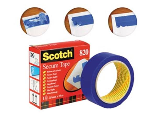 Scotch plakband Secure Tape blauw