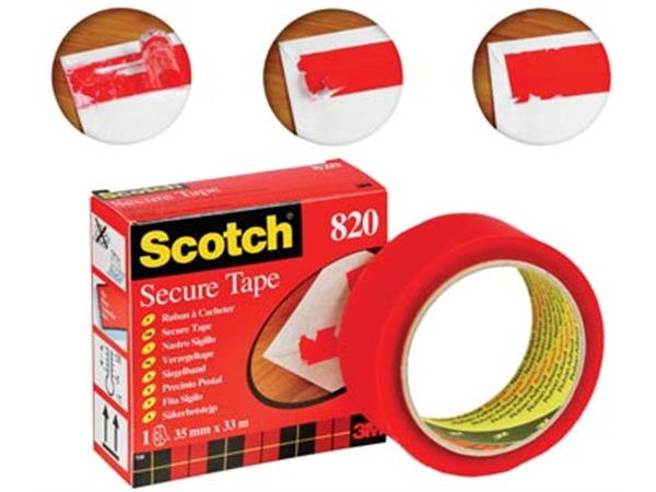 Scotch plakband Secure Tape rood