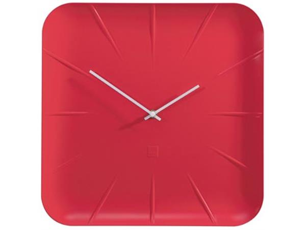 Sigel wandklok Inu. ft 35 x 35 x 4.5 cm. rood