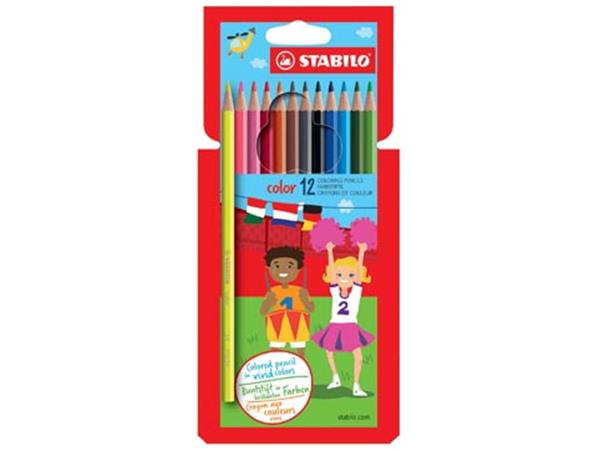 STABILO Color kleurpotlood. kartonnen etui van 12