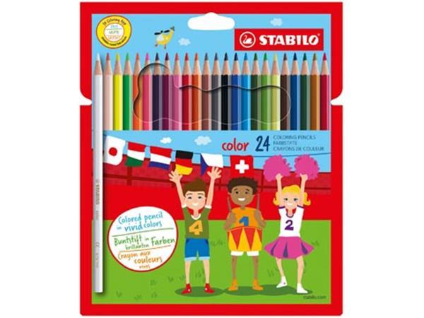 Stabilo kleurpotlood color, 24 potloden in een kartonnen etui