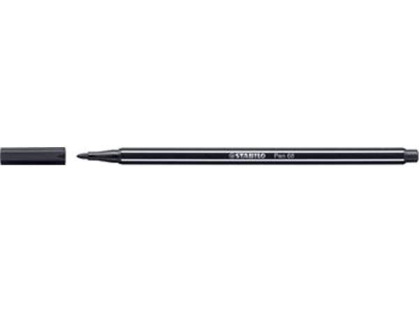 STABILO Pen 68 viltstift. zwart