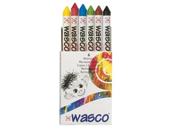 Talens waskrijt Wasco. doos met 6 stuks
