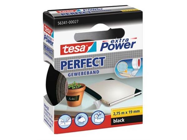 Tesa extra Power Perfect. ft 19 mm x 2.75 m. zwart