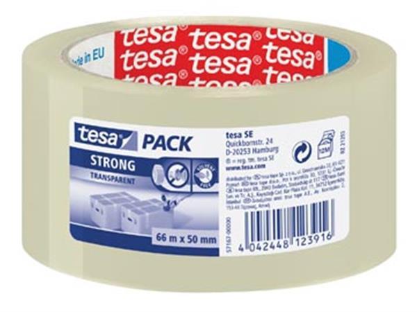 Tesa verpakkingsplakband Strong. ft 50 mm x 66 m.