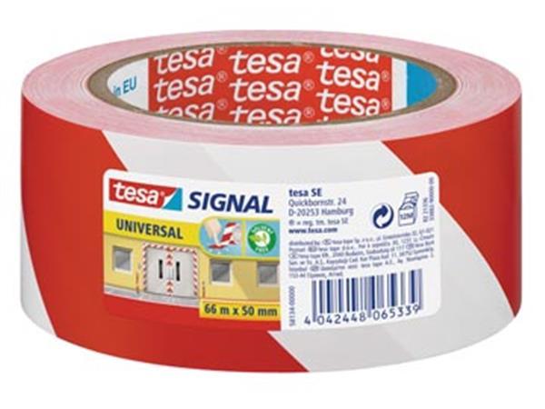 Tesa waarschuwingstape Universal. ft 50 mm x 66 m.