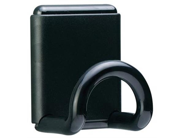 Unilux muurkapstok uit ABS. magnetisch. 1 haak