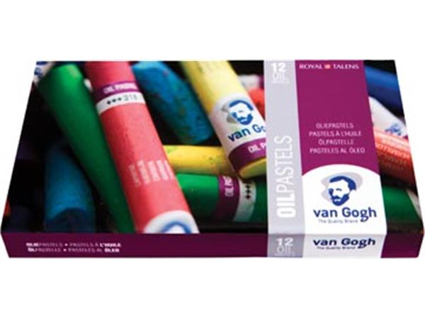 Van Gogh oliepastel starterset. doos met 12 pastel