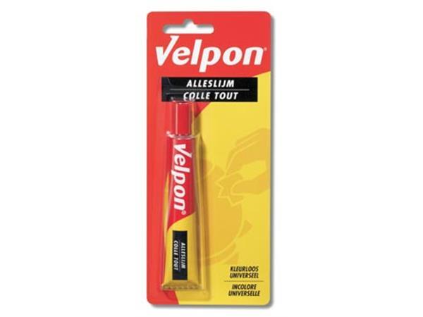Velpon alleslijm tube van 25 ml. op blister