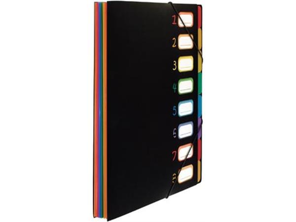Viquel Rainbow Class sorteermap, ft A4, met 8 vakken