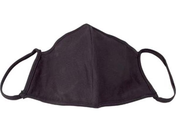 Wasbaar mondmasker, uni zwart, maat: small, pak van 5 stuks