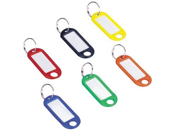 Wedo sleutelhangers met ring. geassorteerde kleure