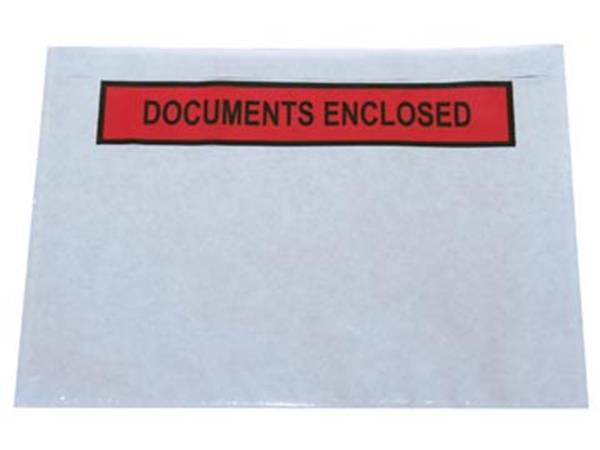 Zelfklevend documentenmapje ft A5. documents enclo