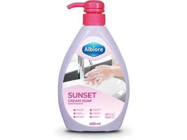 Albiore hand-en lichaamszeep Sunset, flacon van 600 ml