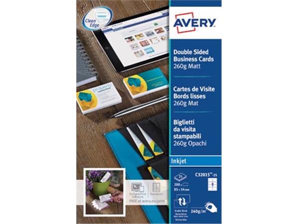 AVERY visitekaarten voor inkjet Quick&Clean  mat.