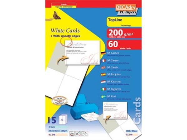 Decadry visitekaarten TopLine 60 kaartjes (4 kaart