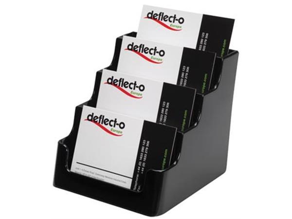 Deflecto Porte Cartes De Visite 4 Compartiments2c Noir