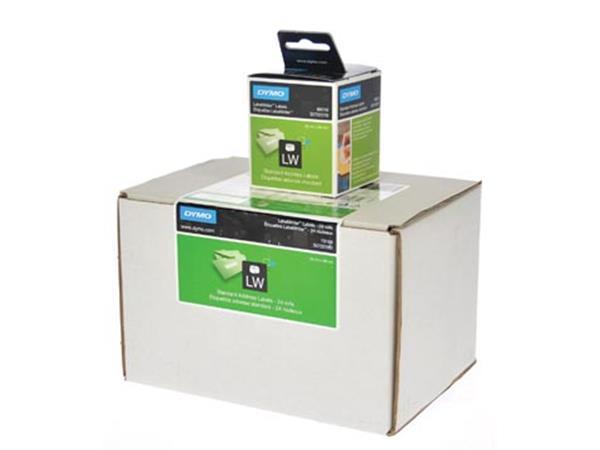Dymo etiketten LabelWriter ft 89 x 28 mm. wit. 312