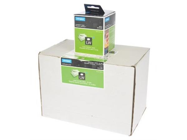 Dymo etiketten LabelWriter ft 89 x 36 mm. wit. 624