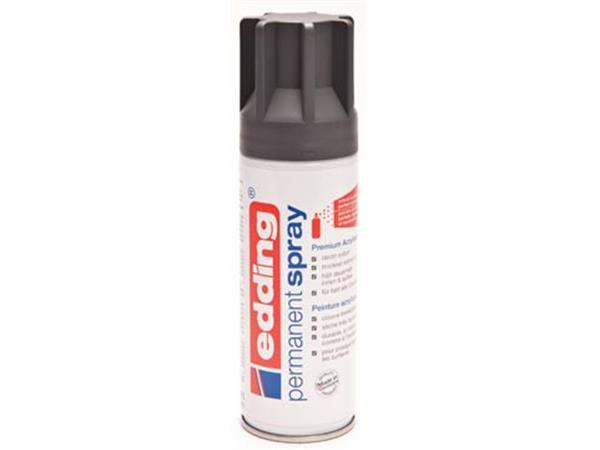 Edding Permanent Spray 5200. 200 ml. antraciet mat
