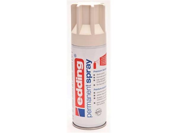 Edding Permanent Spray 5200. 200 ml. crèmewit mat