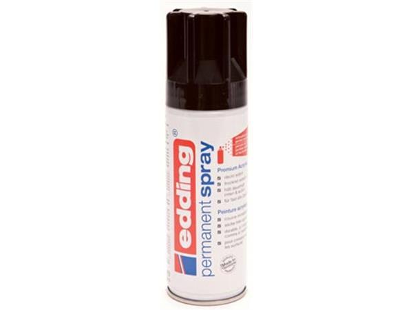 Edding permanent spray 5200. 200 ml. diepzwart gla