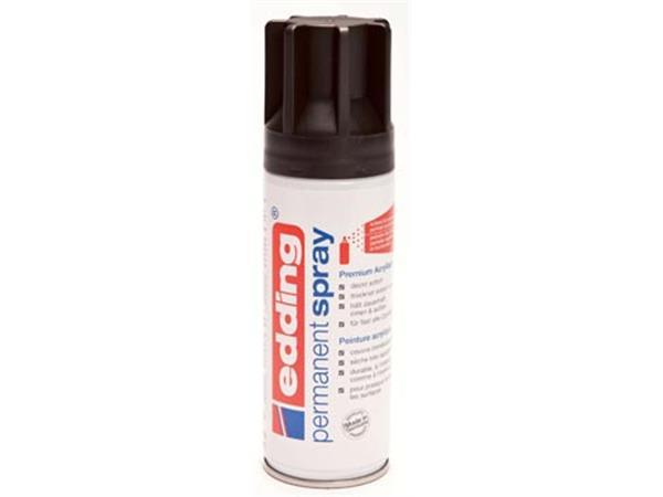 Edding Permanent Spray 5200. 200 ml. diepzwart mat