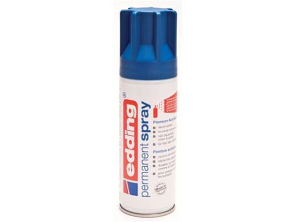 Edding Permanent Spray 5200. 200 ml. gentiaanblauw