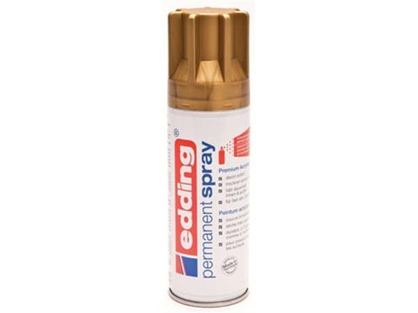 Edding Permanent Spray 5200. 200 ml. rijkgoud mat