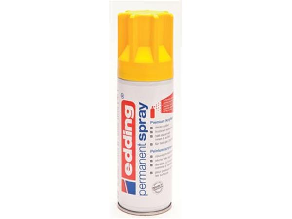 Edding permanent spray 5200. 200 ml. verkeersgeel