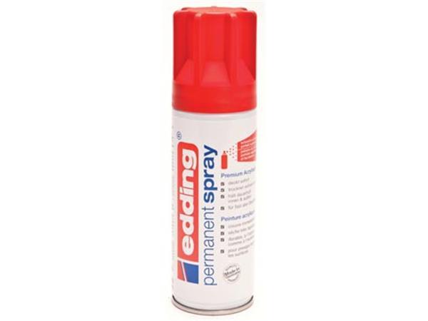 Edding Permanent Spray 5200. 200 ml. verkeersrood