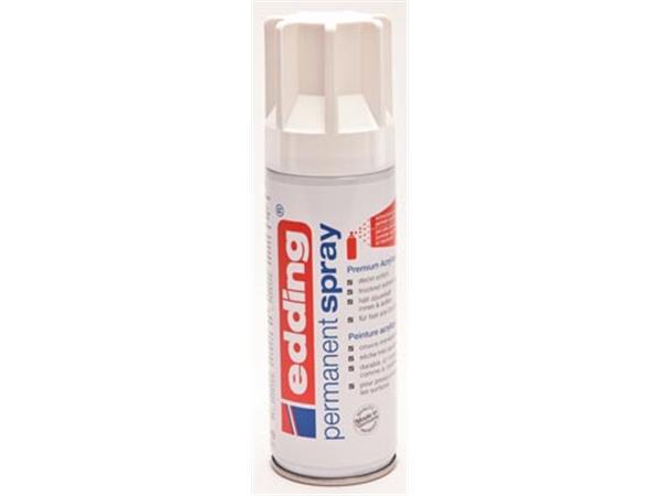 Edding Permanent Spray 5200. 200 ml. verkeerswit m