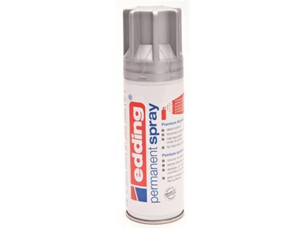 Edding permanent spray 5200. 200 ml. zilver mat